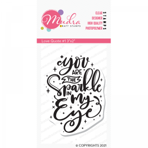 Mudra Clear Stamp - Love Quote #1
