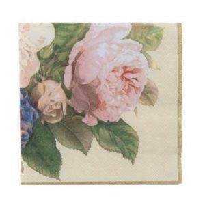 Light Pink Flower With Leaf Decoupage Napkin