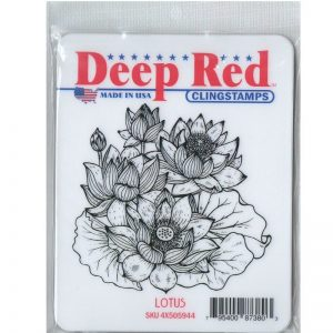 Deep Red Cling Stamp – Lotus
