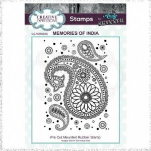 Creative Expressions Rubber Stamp - Memories Of India