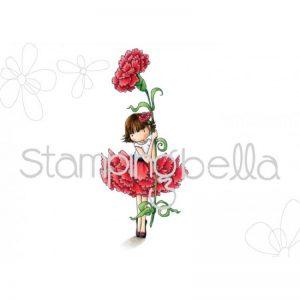 Stamping Bella Cling Stamps - Garden Girl Carnation
