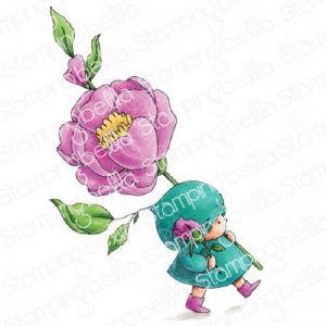 Stamping Bella Cling Stamps - Bundle Girl With A Rose