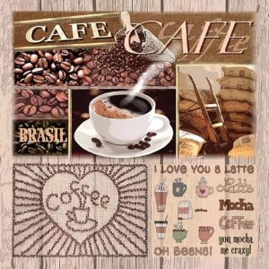 I love You Latte Decoupage Napkin