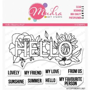 Mudra Clear Stamp - Hello Blooms