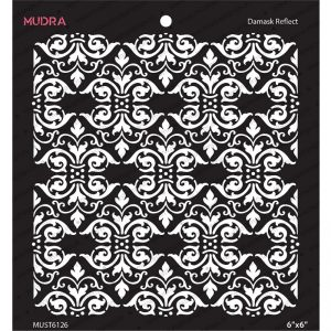 Mudra Stencil - Damask Reflect