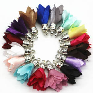 Satin Flower Tassel
